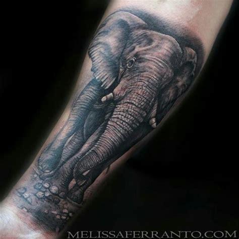 elephant tattoo portrait elephant by melissa ferranto tattoonow