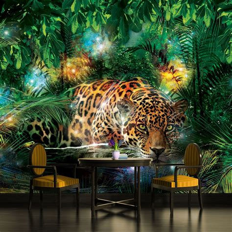 jungle wall mural tiger king of the jungle wallpaper mural for bedrooms