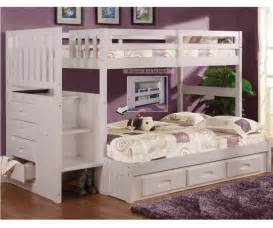 white bunk beds discovery world furniture white staircase bunk