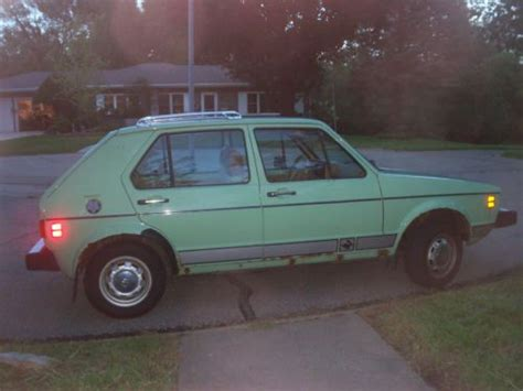 vintage volkswagen rabbit sell used vintage mountain green volkswagen rabbit in