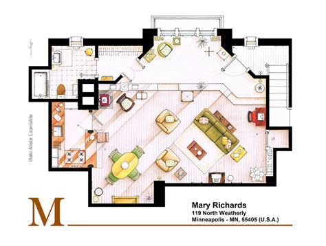 tv show apartment floor plans mary tyler moore s famous apartment floor plan