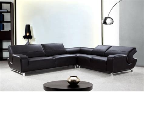 Divani Leather Sofa Dreamfurniture Divani Casa Motif Modern Leather Sectional Sofa