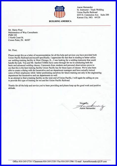 Umd College Park Letter Of Recommendation Railroad M W Welding References