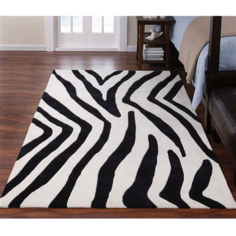 zebra rug walmart zebra rug look 4 less