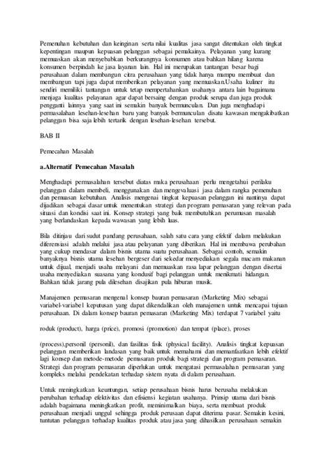 makalah membuat usaha baru makalah kewirausahaan usaha lesehan