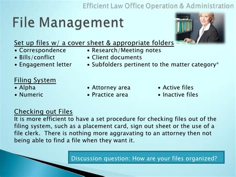 Law Office Administration Organization Office Filing System Template