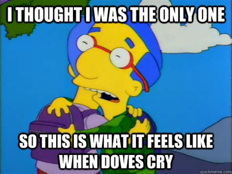 Milhouse Meme - i thought i was the only one so this is what it feels like