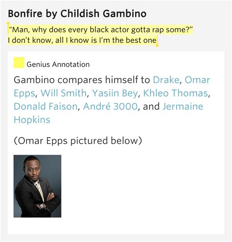childish gambino genius quot man why does every black actor gotta rap some i