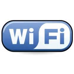 Blue wifi logo social media security