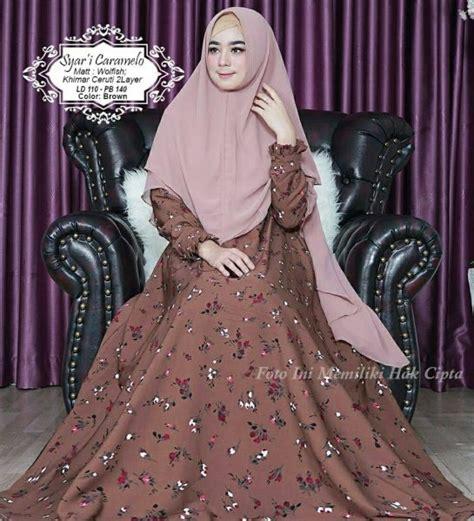 Gamis Syar I Meisya Brown baju gamis syar i caramelo model dress muslim monalisa