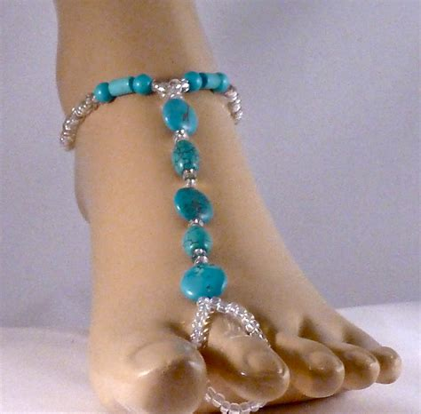 how to make foot jewelry beaded foot jewelry jewelry by hairigoe designs