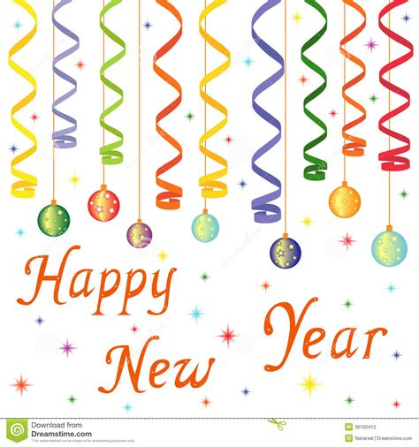 new year drawing happy new year composition stock photos image 36100413