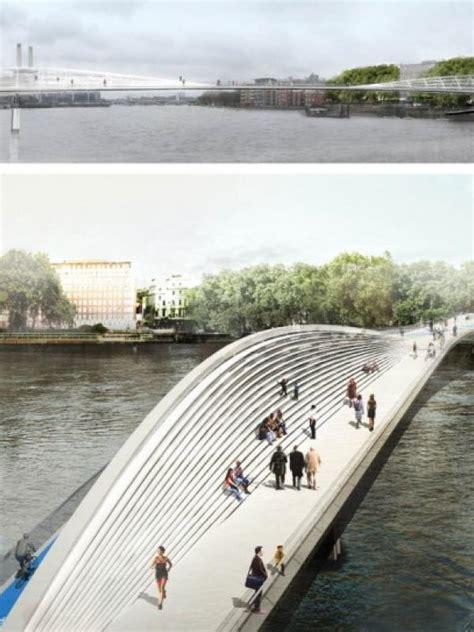 desain jembatan sederhana desain aneh untuk jembatan baru di london lifestyle