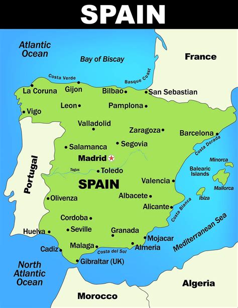 map of spain with cities map of spain guide of the world