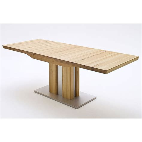 bergamo extendable dining table wide in solid oak 21963