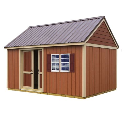 10 X 16 Wood Shed Kit With Floor - best barns brookhaven 10 ft x 16 ft storage shed kit