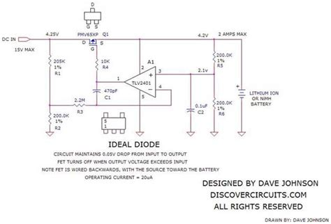 circuit form ideal diode function basic circuit circuit diagram seekic