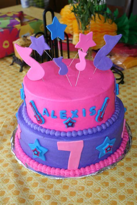rachels creative cakes  daughters rock star birthday cake