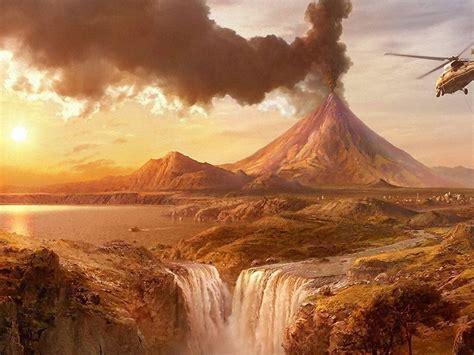 volcanic eruption wallpapers wallpaper cave