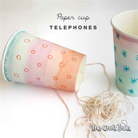 Paper Cup Telephone Craft - paper cup telephones the craft