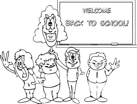 coloring pages back to school theme back to school