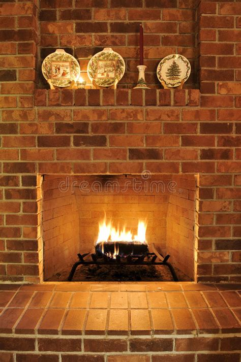 cleaning fireplace bricks indoors brick fireplace stock photos image 12300443