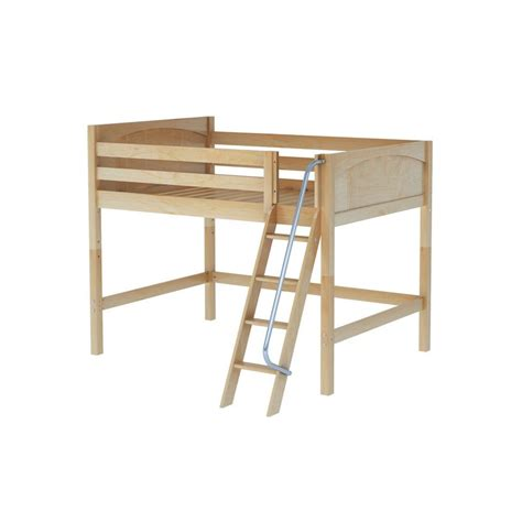 mid loft bed maxtrixkids top np mid loft bed med low with angled