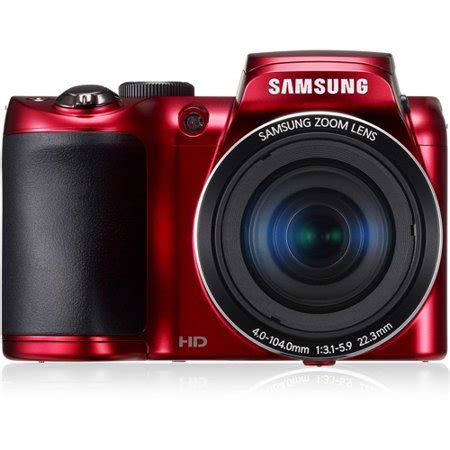 samsung red wb100 ultra zoom camera with 16.2 megapixels