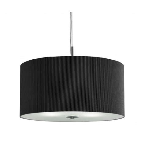 Black Drum Pendant Light 2356 60bk 3 Light Black Drum Pendant