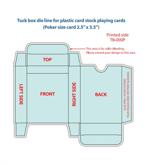 tuck box template for cards 20 card box templates free sle exle