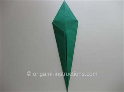 Origami Tulip Leaf - origami traditional tulip leaf folding how