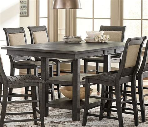 distressed gray dining table willow distressed gray rectangular counter height