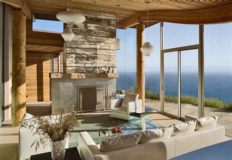 house with a beautiful view rustic modern house overlooking the ocean in big sur