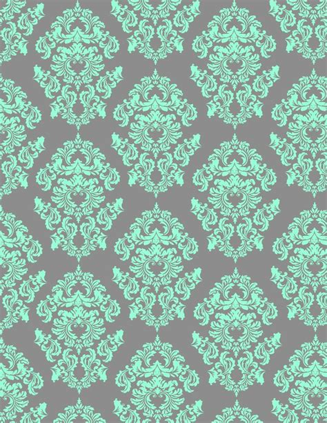 aqua patterns mint damask wallpaper gray aqua and mint