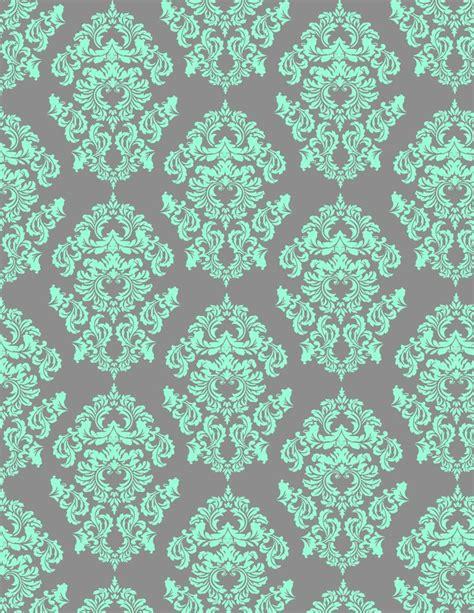 wallpaper grey and mint mint damask wallpaper pinterest gray aqua and mint