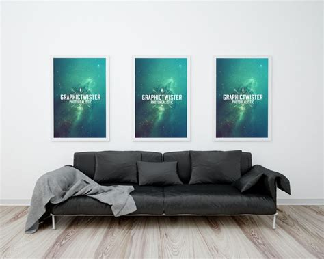 21 X 34 Poster Frame by Free Poster Frame With Sofa Mockup 66 7 Mb
