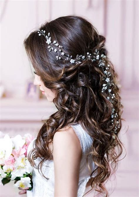 hairpiece stlye for matric bridal hair vine long hair vine wedding hair vine flower
