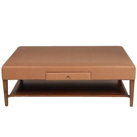Upholstered Coffee Table Large Scale Upholstered Coffee Table For Sale At 1stdibs