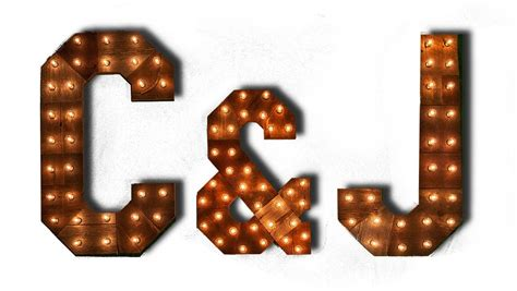 Baby Marquee Letters