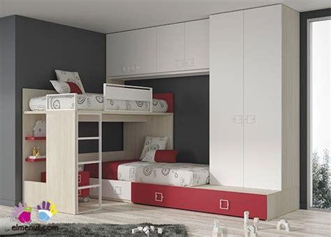 armario habitacion infantil dormitorio infantil con literas armario y altillo