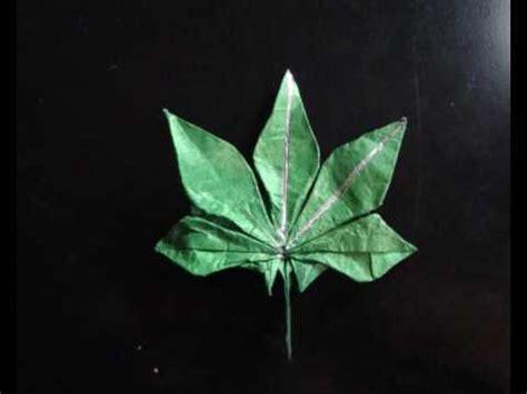 Origami Marijuana Leaf - origami marijuana leaf