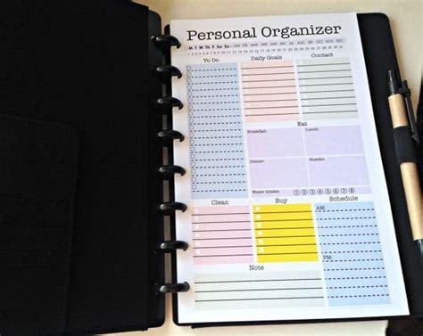 mini personal organizer half letter size editable