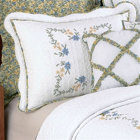Embroidered Bedspreads Embroidered Floral Quilted Bedspread