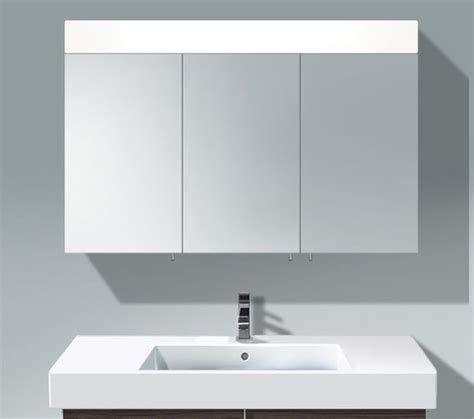 3 mirror bathroom cabinet duravit vero 1200mm 3 door mirror cabinet with led