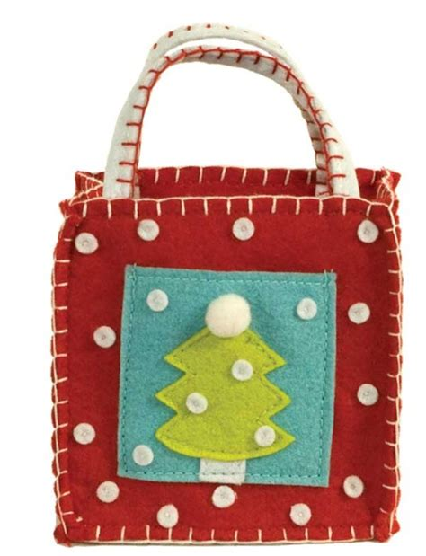 christmas tree gift card goodie bag ecopartytime