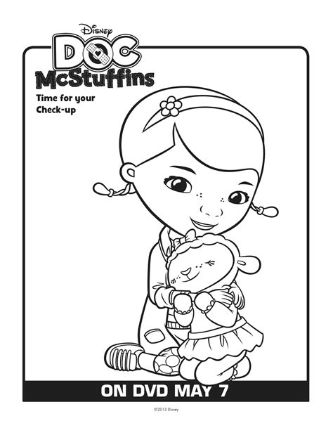 free doc mcstuffins and lambie coloring pages