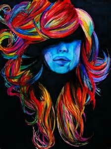 painting hair color colorful hair hair painting and hair on