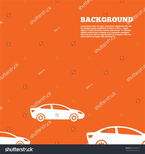 design background signboard modern design background car sign icon stock vector