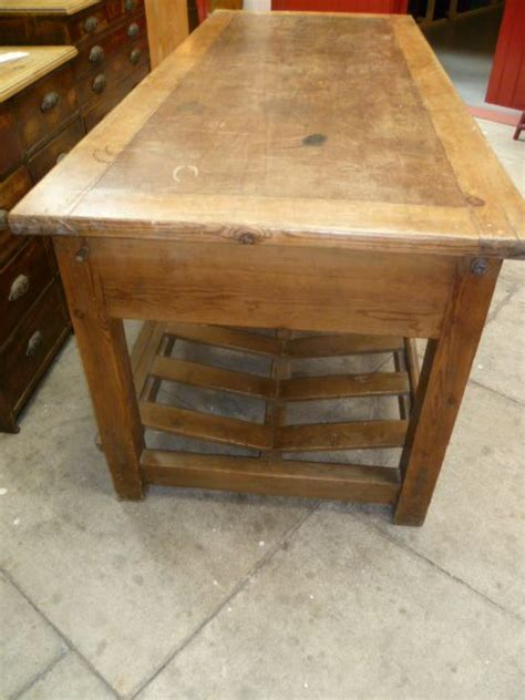antique kitchen island table antique pine mill table kitchen island 236890