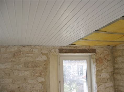 Lambris Pvc Au Plafond by Lambris Pvc Clipsable Maison Travaux